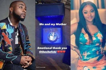 """Me And My Mother"" - See The Beautiful Gift Chioma Gave Davido On His 28th Birthday Today (Photo)"